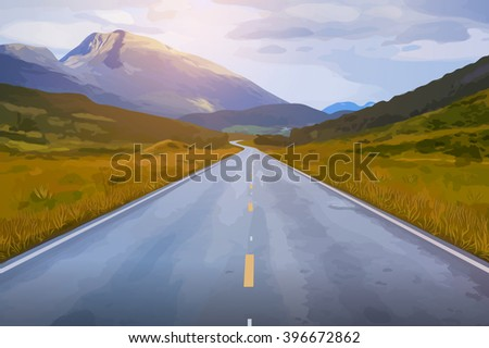 Norway summer road landscape