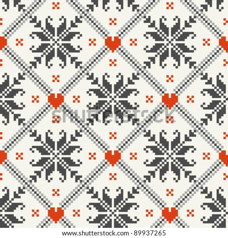 Norwegian fabric, seamless pattern