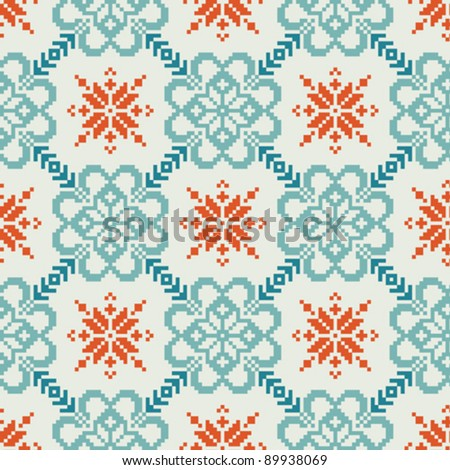 Norwegian fabric #2, seamless pattern
