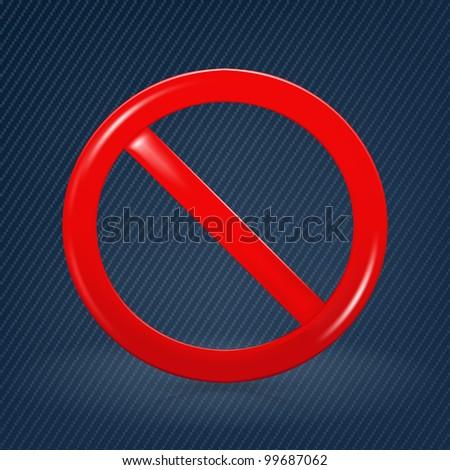 Not Allowed Sign, mesh - stock vector