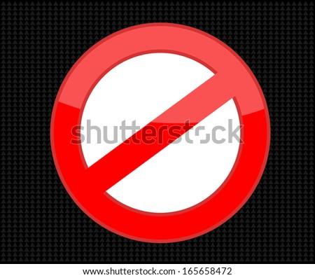 Not Allowed Sign, vector
