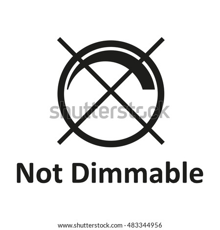 not dimmable icon, Vector illustration.