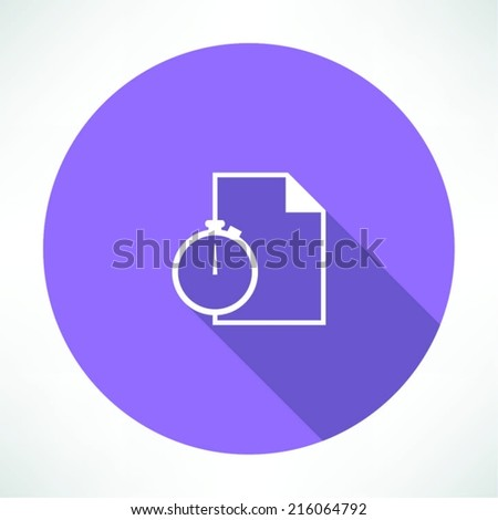 Note and stopwatch - stock vector
