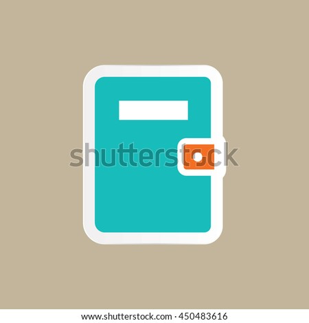 note book icon in flat style - stock vector