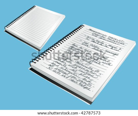 Note Book Vector Illustration - stock vector