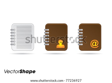 Note books web application icons no.2 vector illustration - stock vector