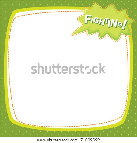 note frame - fighting - stock vector