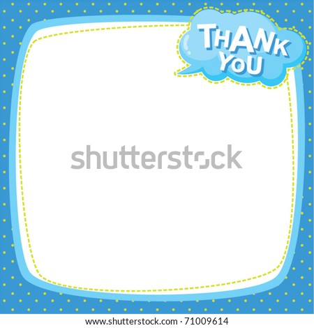 note frame - thank you - stock vector