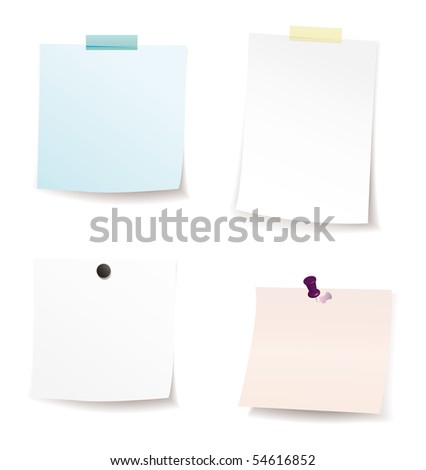 note paper - stock vector