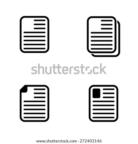Note paper icons - stock vector