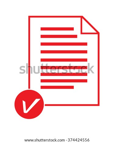 Note paper list icon on white background vector illustration