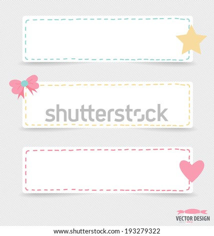 Note paper, ready for your message. Vector illustration. - stock vector