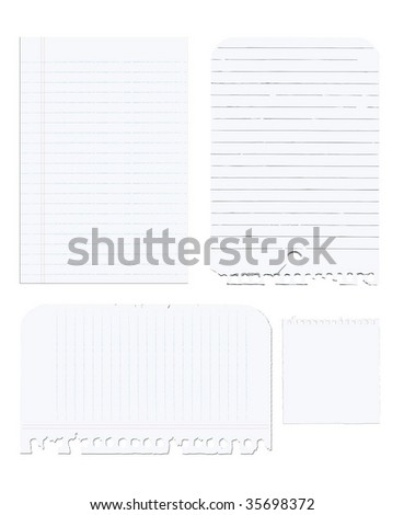 note paper vector - stock vector