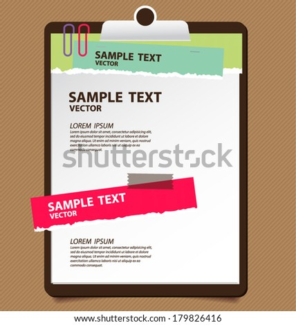 note paper vector illustration - stock vector