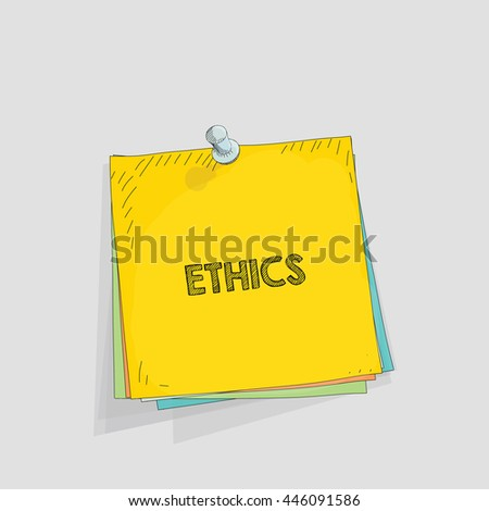 Note paper vector illustration - stock vector