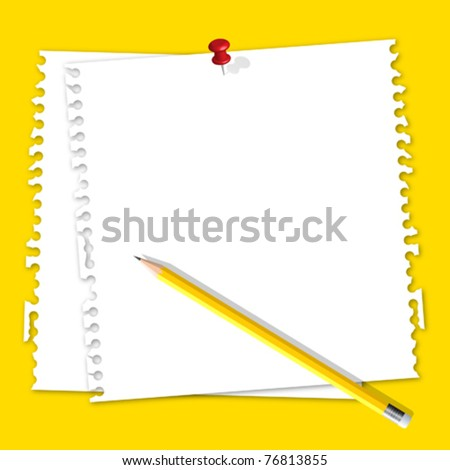 Note  paper with pencil