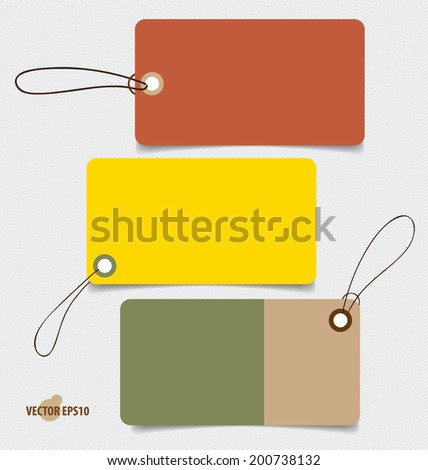 Note papers, Tag. Vintage Style template Design vector illustration.