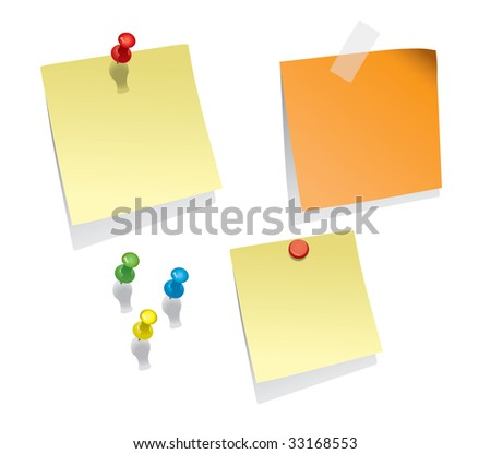 Note Papers (vector). In the gallery also available XXL jpeg image made from this vector - stock vector