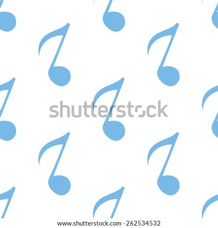 Note white and blue seamless pattern for web design. Vector symbol