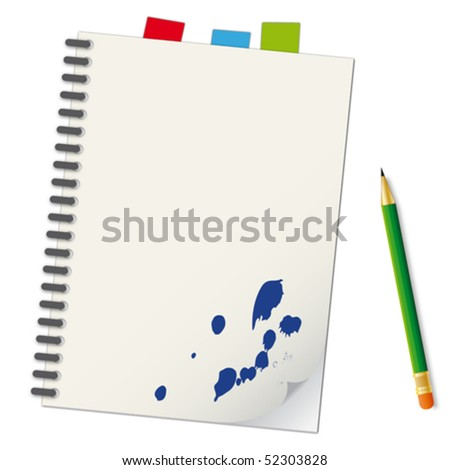 Notebook - an illustration for your design project. - stock vector