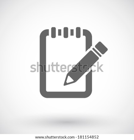 Notebook and pencil icon - stock vector