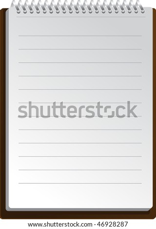 Notebook background in lines - stock vector