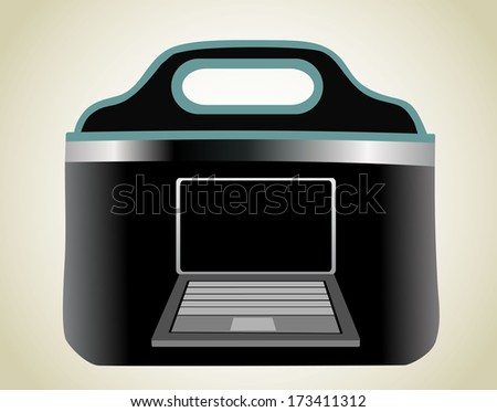 Notebook bag  - stock vector