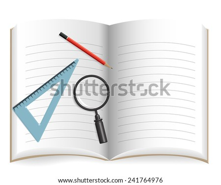 Notebook Blank - stock vector