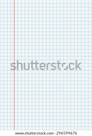 Notebook checked school paper. Eps 10 vector file.