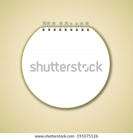 Notebook Circle Vector  - stock vector