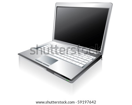 Notebook computer - stock vector