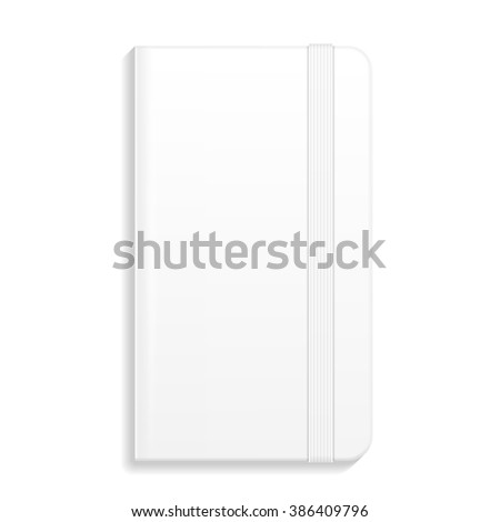 Notebook, Diary, Organizer. Corporate Identity And Branding Stationery Template. Illustration Isolated On White Background. Mock Up Template Ready For Your Design. Vector - stock vector