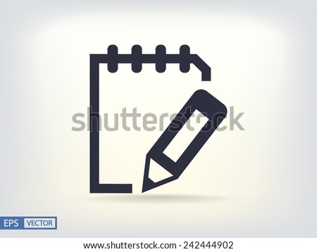 notebook  icon - stock vector