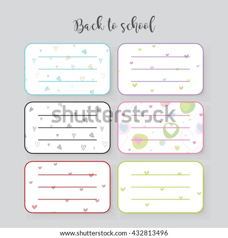labels for notebook