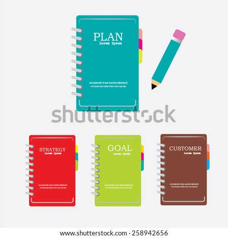 Notebook.notebook for business .vector illustration     - stock vector