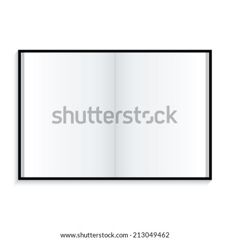 notebook on white background - stock vector