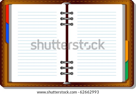 Notebook (organizer). Vector over white - stock vector