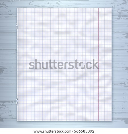 Notebook Page Design Template Lined Paper Stock Vector 566585392 ...