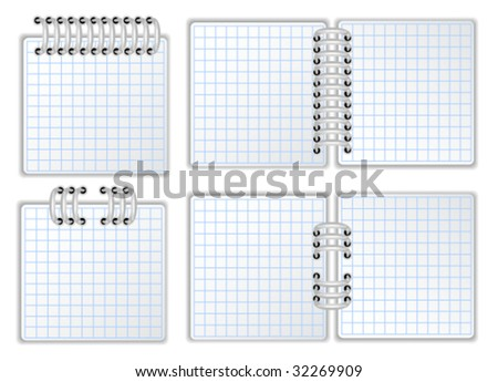 Notebook page. Vector illustration. - stock vector