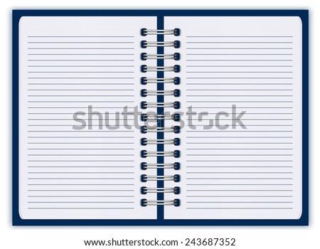 notebook paper - stock vector