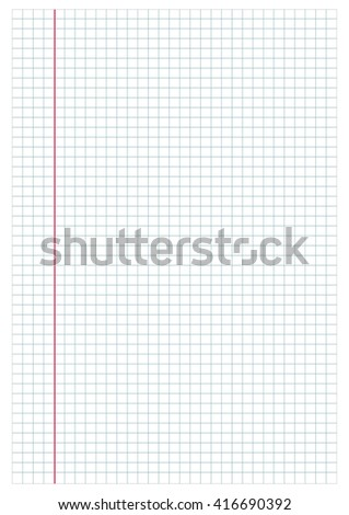 Notebook paper background, white square. Texture for your design - stock vector