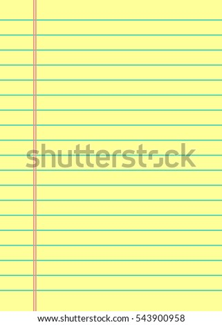 Notebook Paper Background. Yellow Lined Paper  Line Paper Background