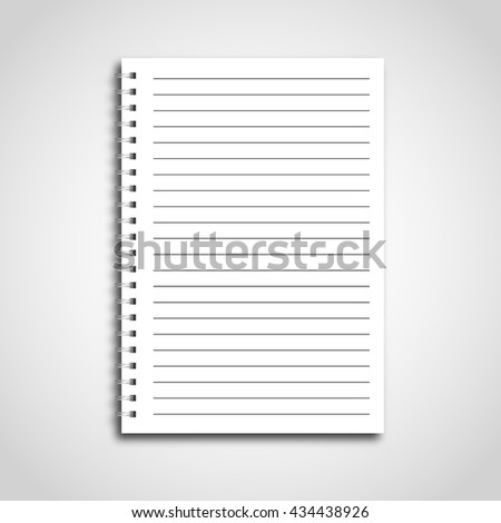 Notebook paper in line. Vector illustration