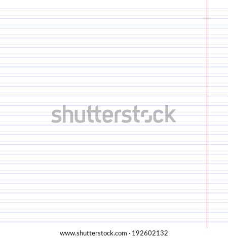 Notebook paper line