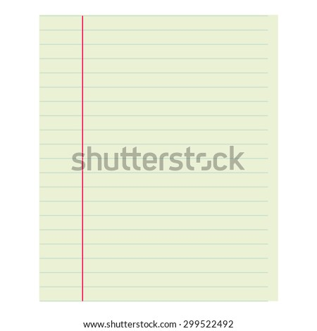 Notebook paper old blank. School collection. Abstract vector background. Classical linear sheet. Backgrounds & textures shop. - stock vector