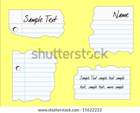 Plain Piece Notebook Paper Vector Illustration Stock Vector
