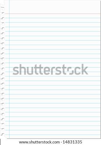 Notebook Paper Vector - stock vector