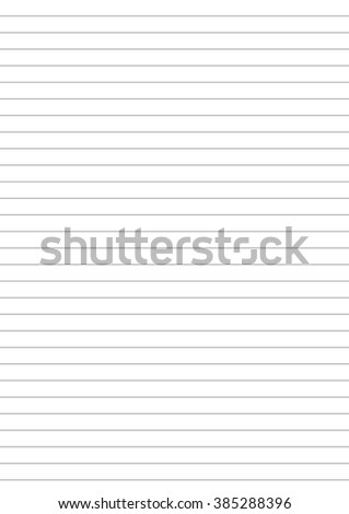 Notebook paper with one centimeter gray line a4 size template - stock vector
