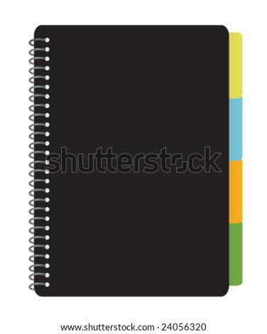 Notebook Planner - stock vector