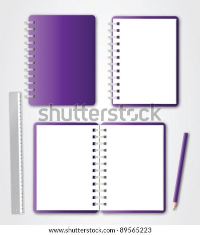 Notebook Set Vector - stock vector